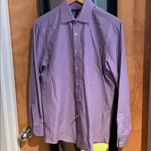 BCBGMaxAzria Men's Purple Stripe dress shirt
